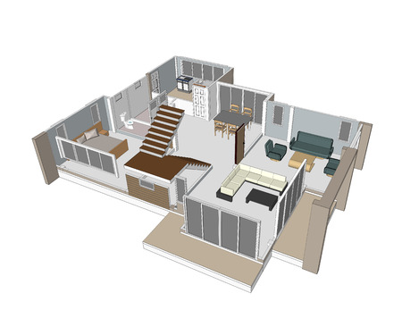 Zeichnungen Design-Häuser