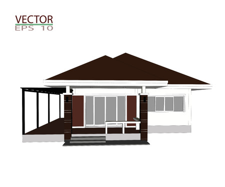 Drawings design houses and furniture.