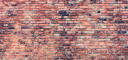paredes de ladrillos: Pared de ladrillo de estilo retro Foto de archivo