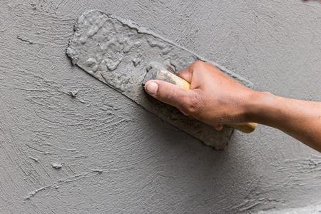 Plastering construction work