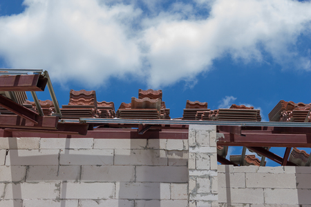 Sort tiles roof for building houses.