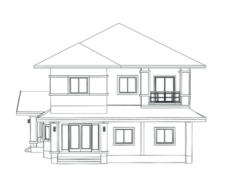 Drawings Design House No Colour Stock Photo Picture And