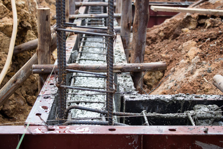 concrete construction: Work concrete  beam construction in sites.