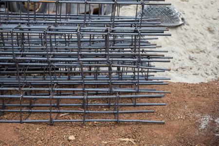 bonded: Preparation bonded steel pole construction. Stock Photo