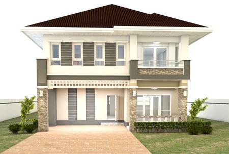 background house: House design isolated white background