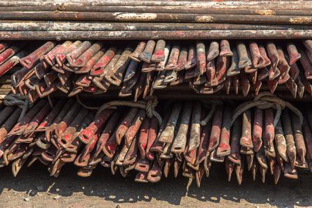 storage: Storage scaffolding in site construction.