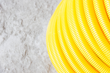 Flexible hose yellow protective wire construction