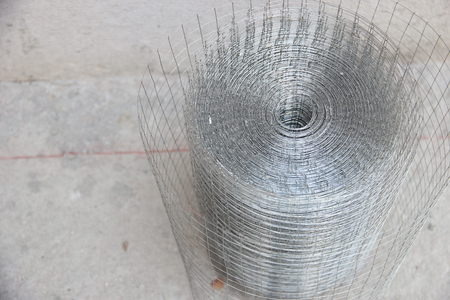 preparatory: Preparatory work of wire mesh before making plastering cement