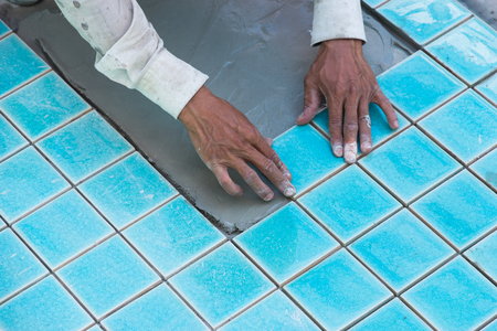 industrial tiler builder swimming pool