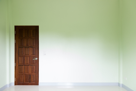room door: Empty room and door in a modern house