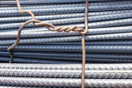 rusting: industry reinforcement steel bars used in construction.