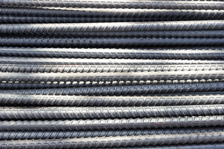 reinforcement: industry reinforcement steel bars used in construction.