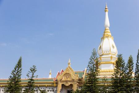 ROI-ET, Thailand - February 10, 2017 : Wat Pramahaa Jedi Chimongkon temple, ROI-ET, THAILAND