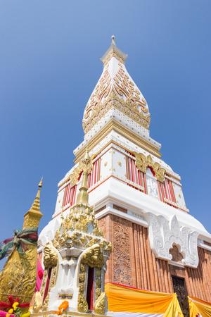 NAKHON PHANOM, THAILAND - February 11, 2017 : Wat Phra That Panom Buddha  temple Nakhon Phanom, Thailand.