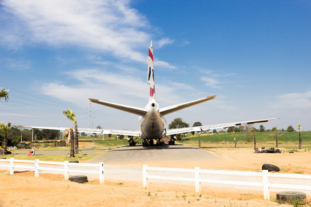 aircraft used already in the park.korat Airplane Park