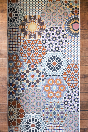 tile pattern: idea tile bathroom design Stock Photo