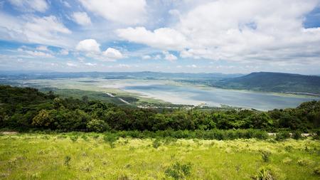 korat: landscape Natural Attraction on the dam lamtakong nakhonratchasima thailand Stock Photo