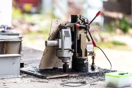 industrial equipment machinery drills tool Stock Photo