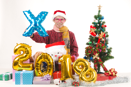 Men very happy christmas and happy new year 2018