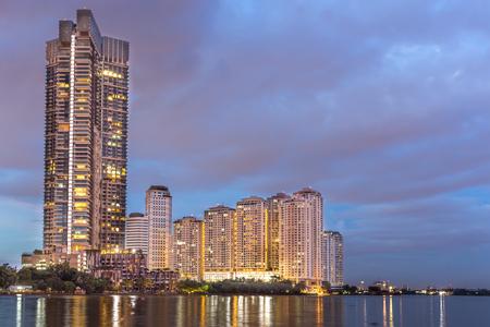 Beauty of the building image before twilight sunset bangkok thailand