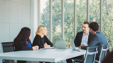 Business team working at modern office Standard-Bild - 122267854