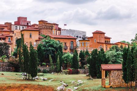 Beautiful city scape parking The Toscana Valley Italian style in khaoyai Nakhon Ratchasrima Reklamní fotografie