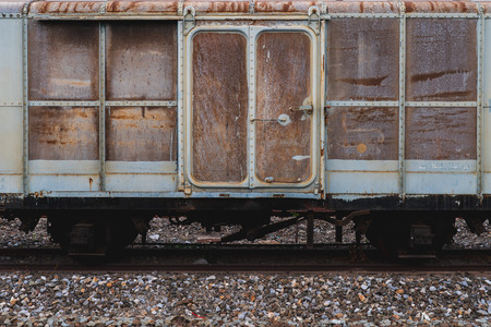 Old train wrecks that were left waiting for repairs
