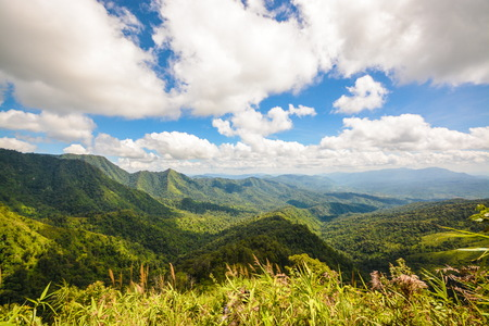 View point Mountain of Phu Soi Dao Nationnal Park Stock Photo