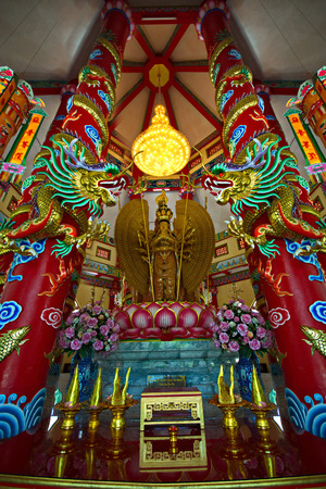 Guanyin Beautiful temple Ang Thong Province, Thailand