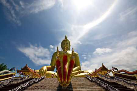 The Big Great Buddha of Thailand is one of the main pilgrim and tourist destination in Ang Thong Thailand