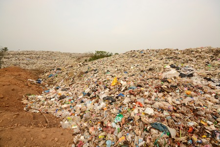 Pile of Garbage in the North East region of Thailand,In the dump area.