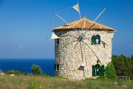 Windmill of Zante, greek island photo
