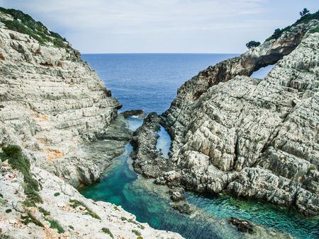 Lonely rocks at Zakynthos island