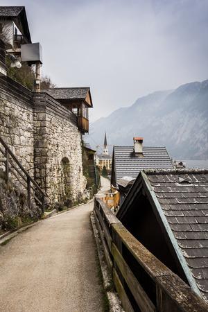 View of alpine village photo