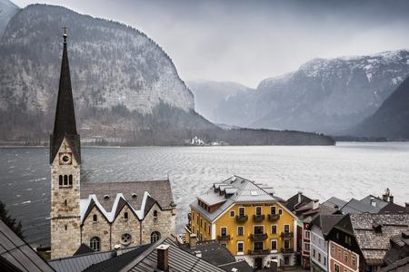 lutheran: Lutheran church, Hallstatt, Austria Stock Photo