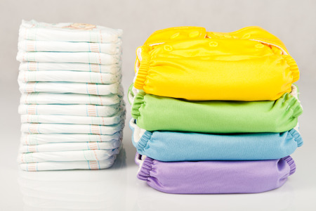 Eco friendly diapers and diapers photo
