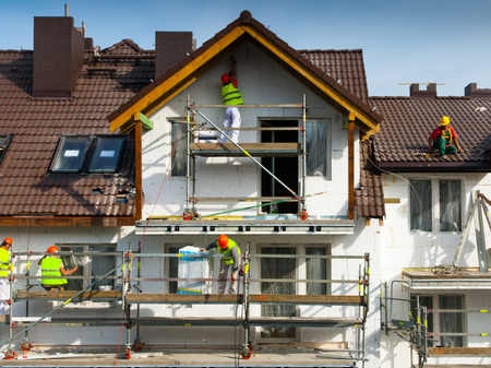 house painter: Facade thermal insulation and painting works