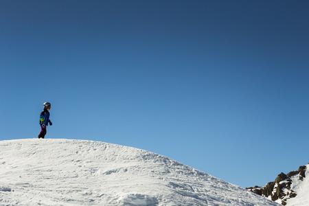 piste: Boy in Alps Editorial