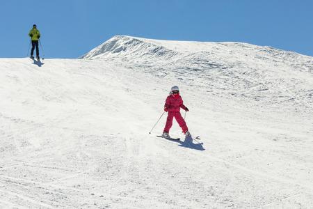 Girl as skier