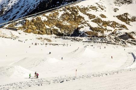 kitzsteinhorn: Kitzsteinhorn ski region in Austria Stock Photo
