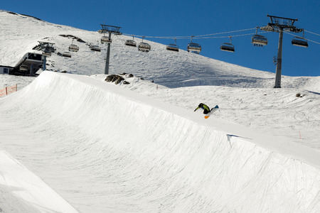 kitzsteinhorn: Halfpipe of Kitzsteinhorn ski resort in Austria