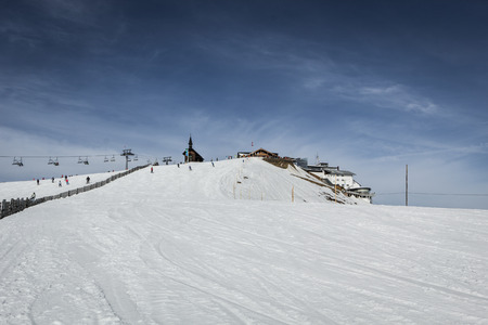 snow grooming machine: Mountain shelter in Kitzsteinhorn ski resort (Austria)