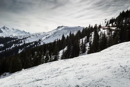 Beautiful view from Kitzsteinhorn ski resort in Alps photo