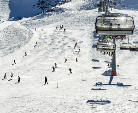 moguls: The chair lifts of Zell am See