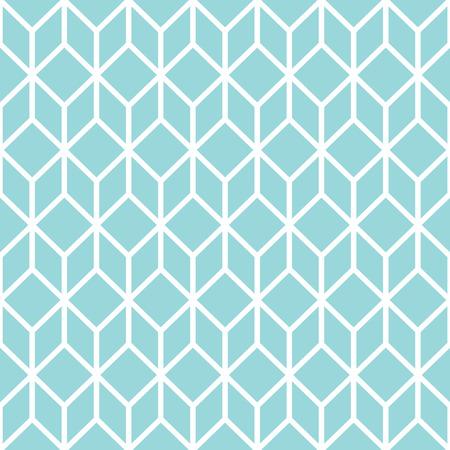Blue stylized cube seamless pattern.