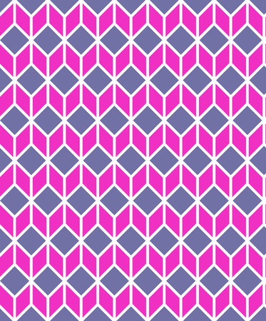 clothes interesting: geometric pink cube wallpaper white background. Vector. Illustration