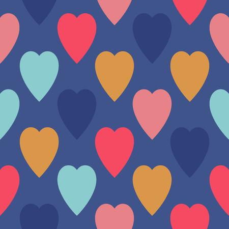 heart seamless pattern: Heart seamless pattern. Cute color vector cartoon design. Illustration