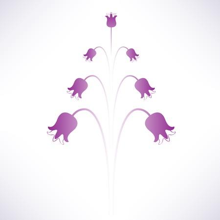 bellflower: Abstract isolated symmetric purple violet bellflower. Vector. Illustration