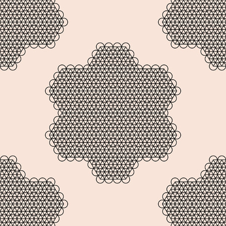 patter: Able lace tile patter retro black and pink. Vector