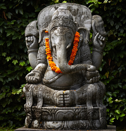 hindus:  Ganesa One of the Hindus god statues, which  decorate Balinese zoo.